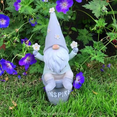 Potting Shed Garden Gnome Ornament Inspire Design Gift Boxed