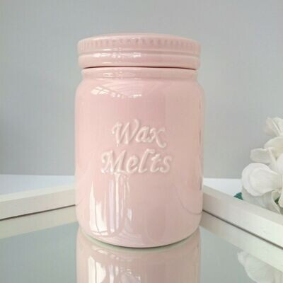 Large Pink Wax Melts Ceramic Storage Pot With Lid Gift Boxed