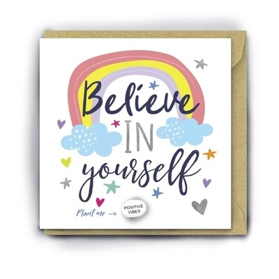 Believe In Yourself Card With Magic Growing Bean