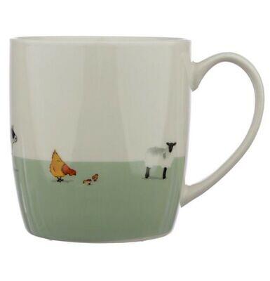 Willow Farm Porcelain Farmyard Design Mug Gift Boxed Country Farm Theme