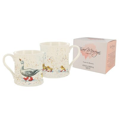 Duck & Ducklings In Boots Gift Boxed Mug From The Bree Merryn Collection