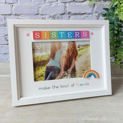 Sisters Make The Best Friends Rainbow Scrabble Photo Frame