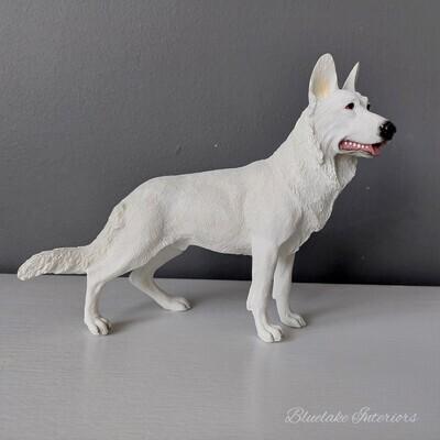 White German Shepherd Standing Dog Gift Boxed Ornament