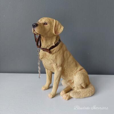 Walkies Yellow Labrador Dog Ornament Figurine Gift Boxed