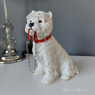 Walkies West Highland White Terrier Dog Ornament Figurine Westie Gift Boxed