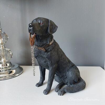 Walkies Black Labrador Dog Ornament Figurine Gift Boxed