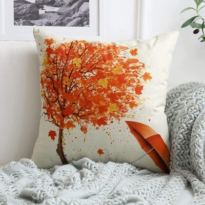 Gorgeous Autumnal Cushion Cover Umbrella Detail
