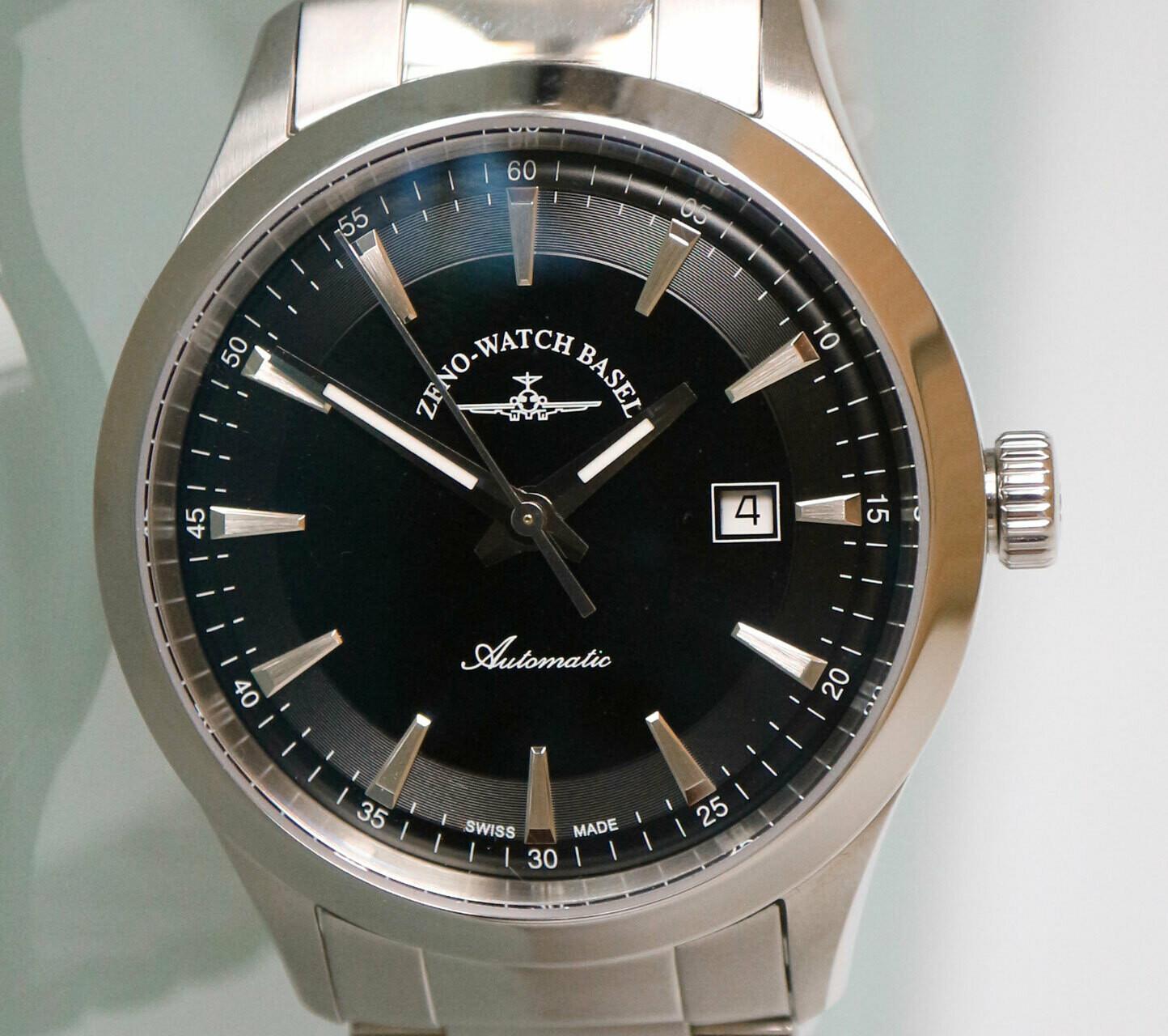 Zeno-Watch Event Gentleman Automatik schwarz