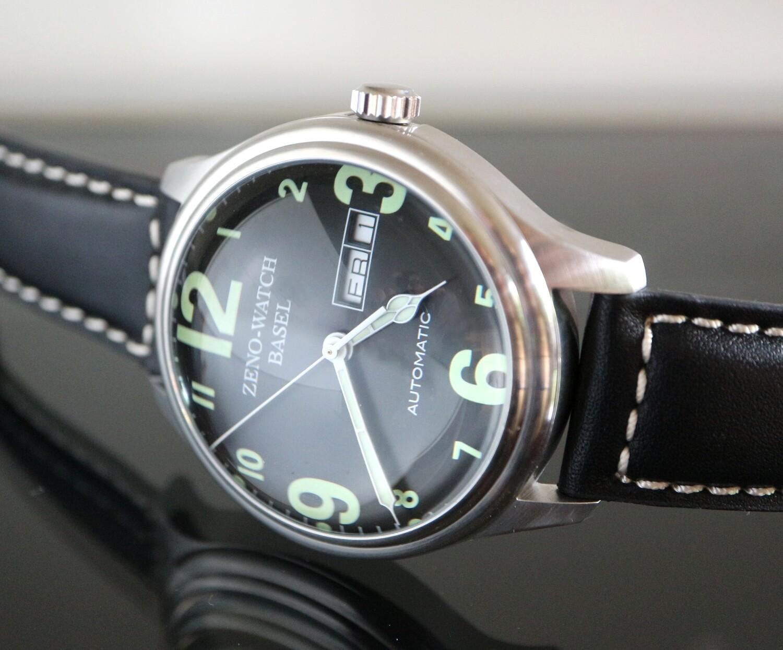 Zeno watch Bubble - Oversized Dome Automatic (New Edition) – 2 Jahre Garantie, inkl. Uhrenbeweger