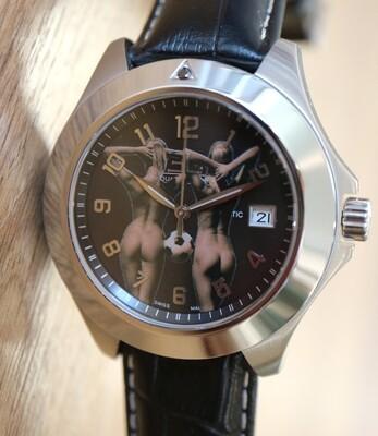 Erotik-Uhr Edouard Lauzières - Diamantuhr -Automatik mit Datum
