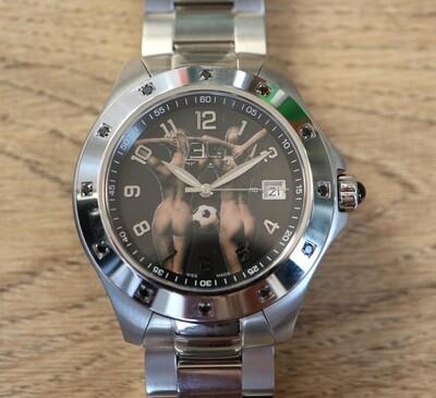 Erotik-Uhr Edouard Lauzières - El Diamante - Automatik mit Datum