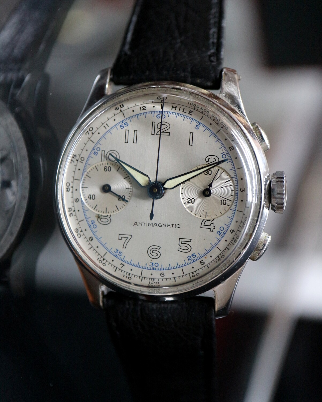 "Swiss ""No Name"" Chronograph Landeron Kal. 47, ca. 1940er Jahre"
