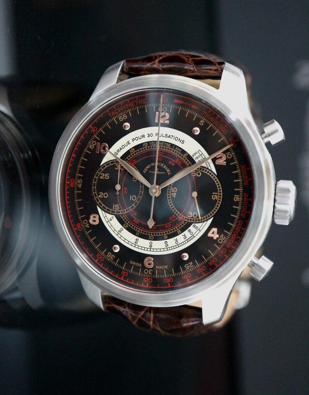 Zeno-Watch Basel OS Retro Chronograph Dubois-Depraz Pulsometer - 2 Jahre Garantie, inkl. Uhrenbeweger!