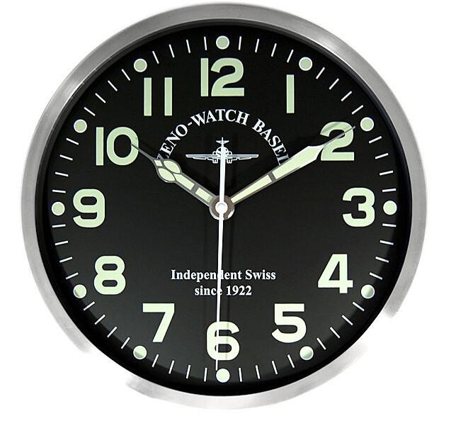 Zeno-Watch Basel Pilot clock XL FLieger Wanduhr, 39,5 cm