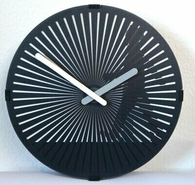 Quarz-Uhr Fussgänger - rotierende Scheibe mit optischem Laufeffekt