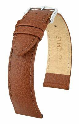Hirsch Uhrenarmband Kansas / Strukturiertes Leder / Easy Click