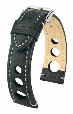 Hirsch Uhrenarmband Rally / Strukturiertes Leder / Easy Click