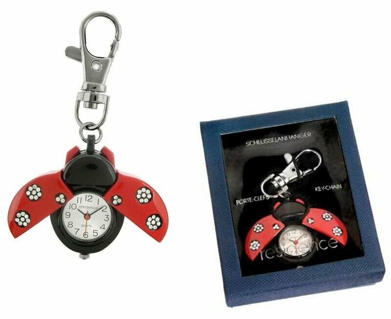 Anhänger mit Uhr - Geschenkbox Marienkäfer