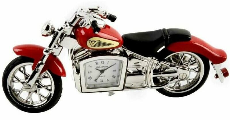 Miniatur-Uhr Motorrad