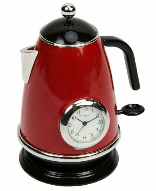 Miniatur-Uhr Wasserkocher