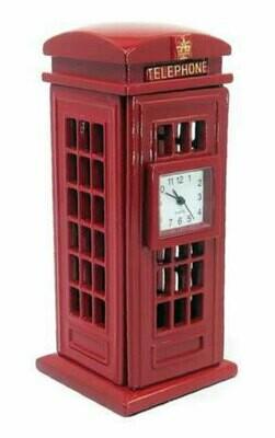 Miniatur-Uhr Telefonkabine
