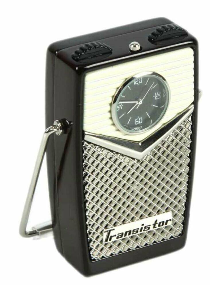 Miniatur-Uhr Musicbox retro