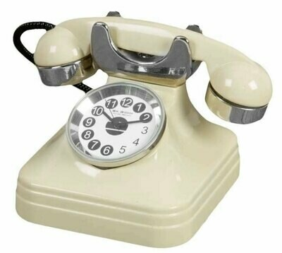 Miniatur-Uhr Telefon retro