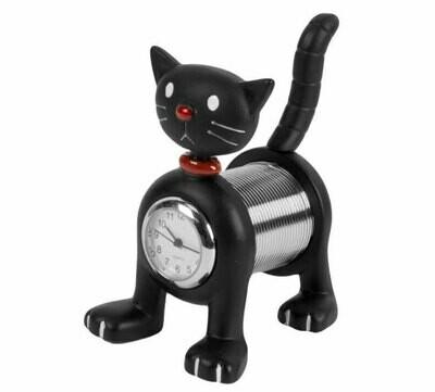 Miniatur-Uhr Katze
