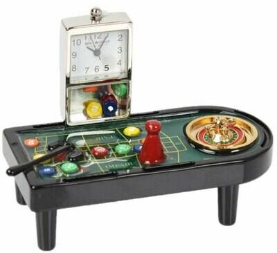 Miniatur-Uhr Rouletttisch