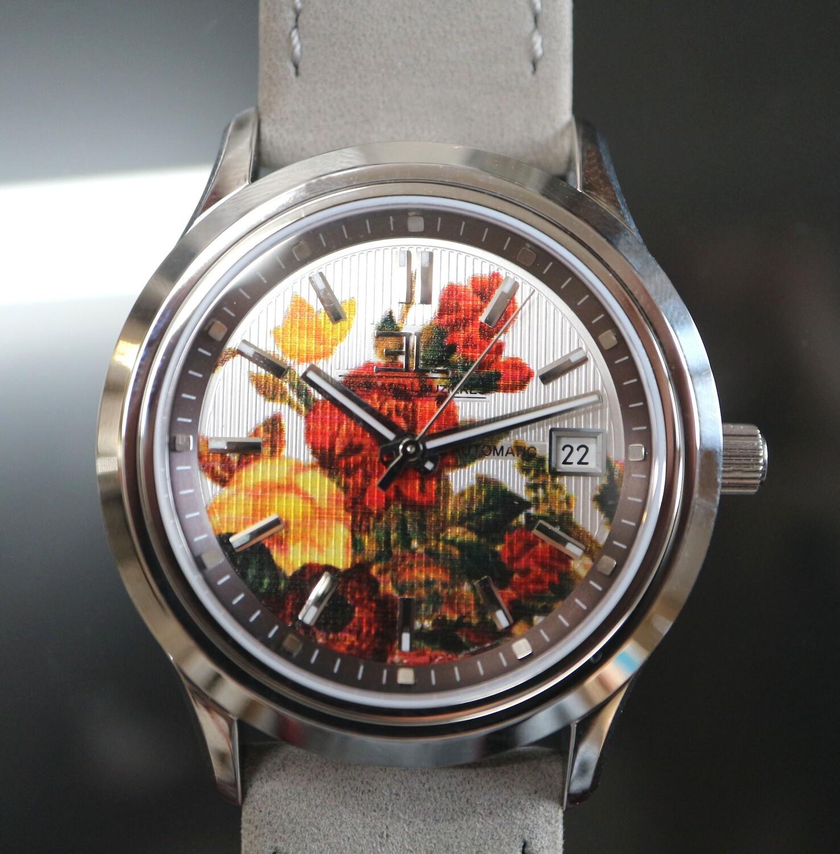 Edouard Lauzières - Limitierte Edition - Flowers - Automatik mit Datum