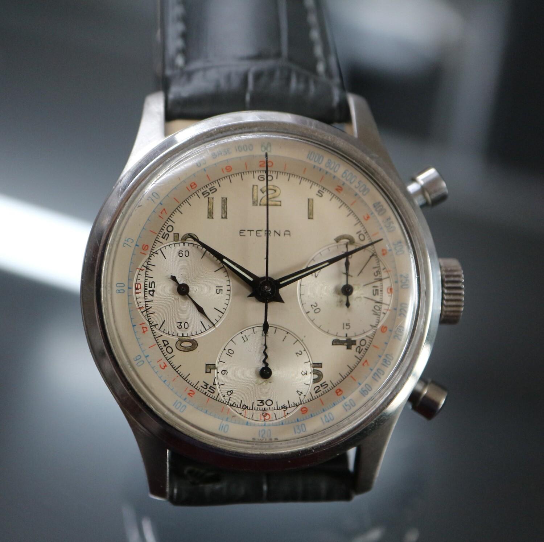 Vintage Eterna Chronograph in Stahl, 60er Jahre, 1 Jahr Garantie