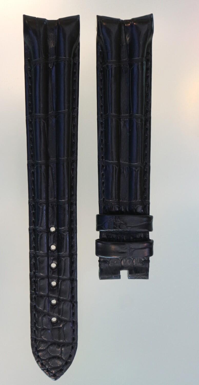 Original Omega Uhrenarmband made by Hirsch, Alligator schwarz