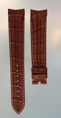 Original Omega Uhrenarmband made by Hirsch, Alligator cognac