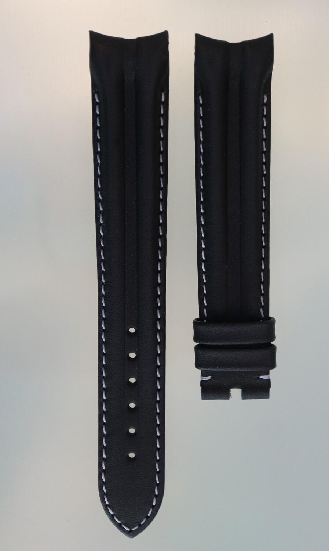 Original Omega Uhrenarmband made by Hirsch, Kalb schwarz