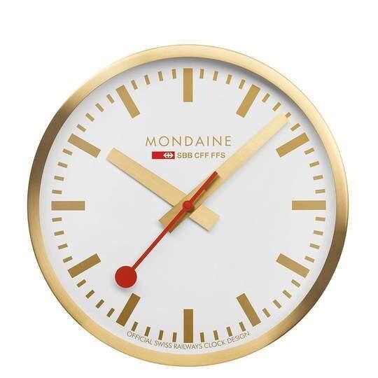 Modaine - WANDUHR - 25cm, goldene Küchenuhr