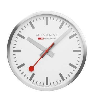 Modaine - WANDUHR - 25cm, silberne Küchenuhr