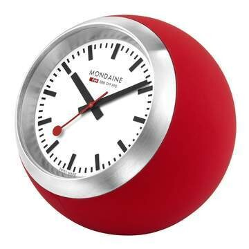 Mondaine rote Tischuhr 60mm, A660.30335.16SBC