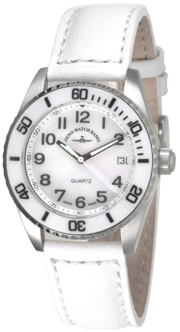 Zeno-watch Keramik Taucheruhr Medium Size – weiss