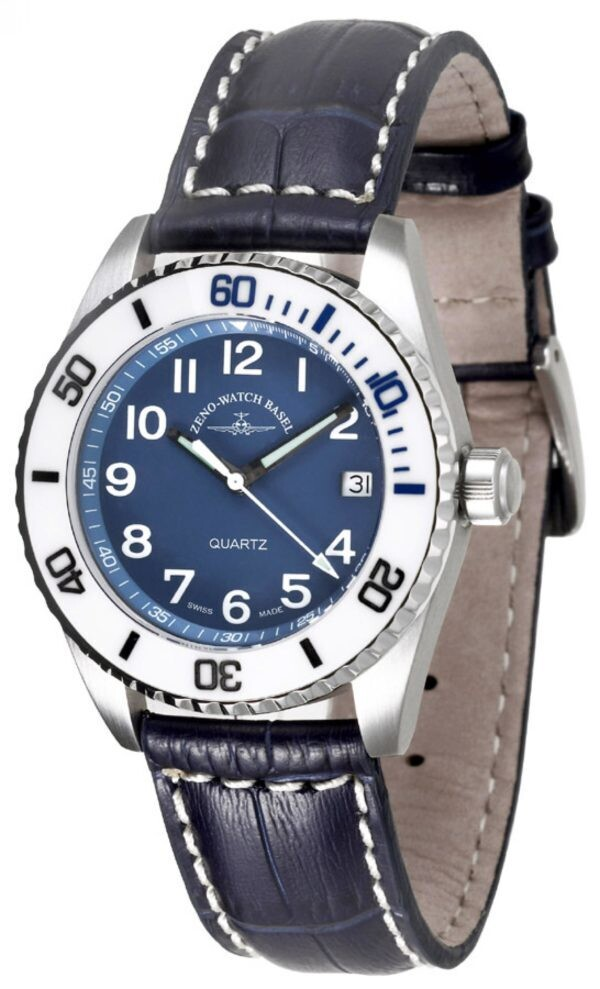 Zeno-watch Keramik Taucheruhr Medium Size – blau