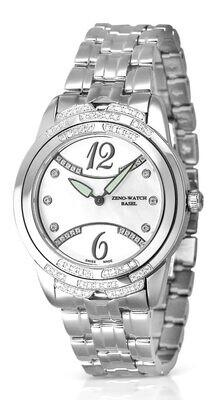 Zeno-watch Fashion Swarowski Crystals Shell