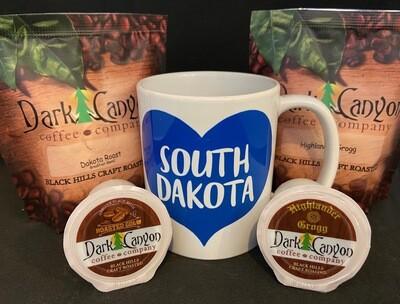 South Dakota Mug + Coffee + K-Cups