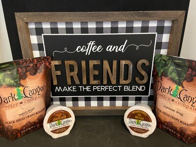 Coffee & Friends Sign + Coffee + K-Cups