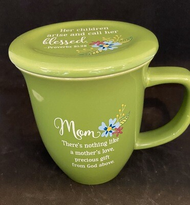 Mom Mug With A Coaster