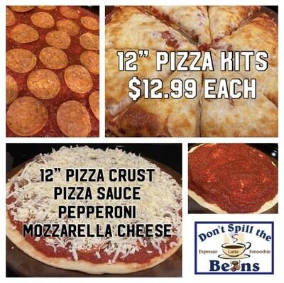 """Pepperoni Pizza 12"""" Pizza Kits"""