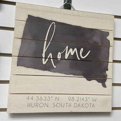 SD Home Pallet Sign