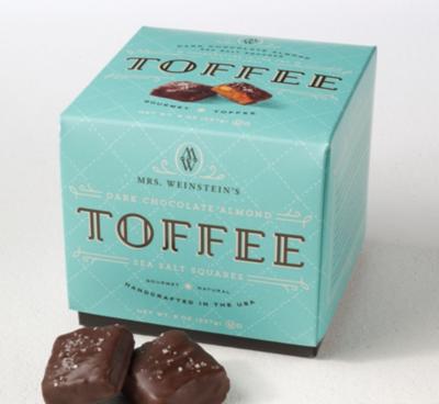 Mrs. Weinstein's Single Serve Dark Sea Salt Almond Toffee Squares