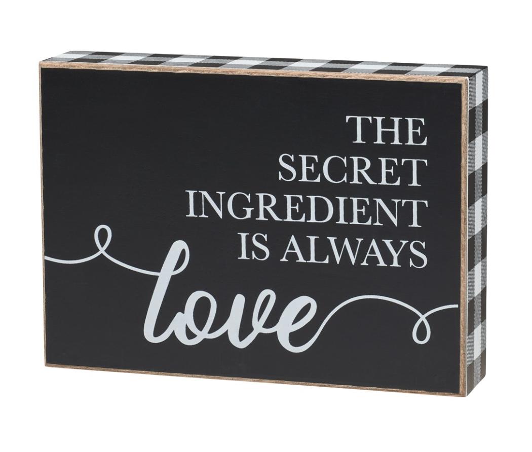 The Secret Ingredient - Box Sign
