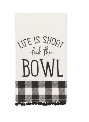 Life's Short, Lick the Spoon - Tea Towel