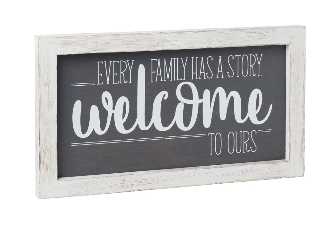 Welcome Stories - Box Sign