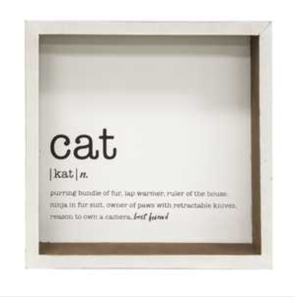 Cat Definition - Box Sign